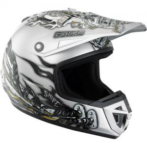 CASCO MX SHIFT AGENT PIPESCOLOR BLANCO/NEGRO