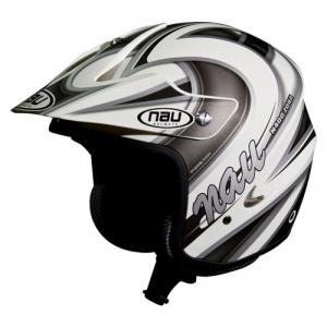 CASCO TRIAL NAU N400 BLANCO/GRIS