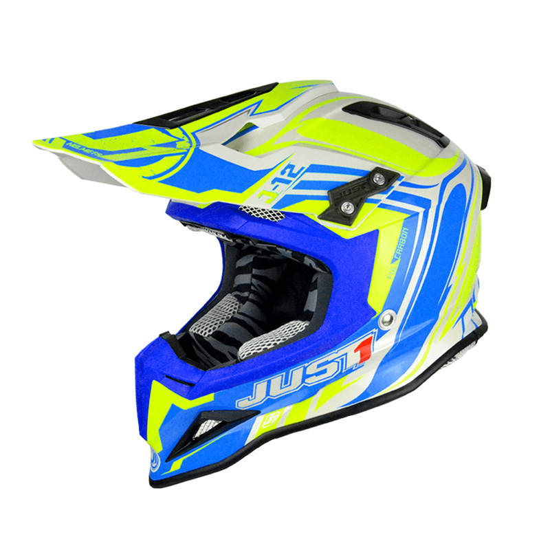 Casco Just1 J12 Flame amarillo/azul