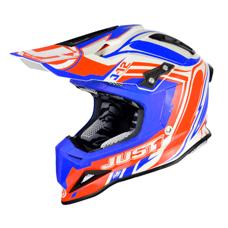 Casco Just1 J12 Flame rojo/azul