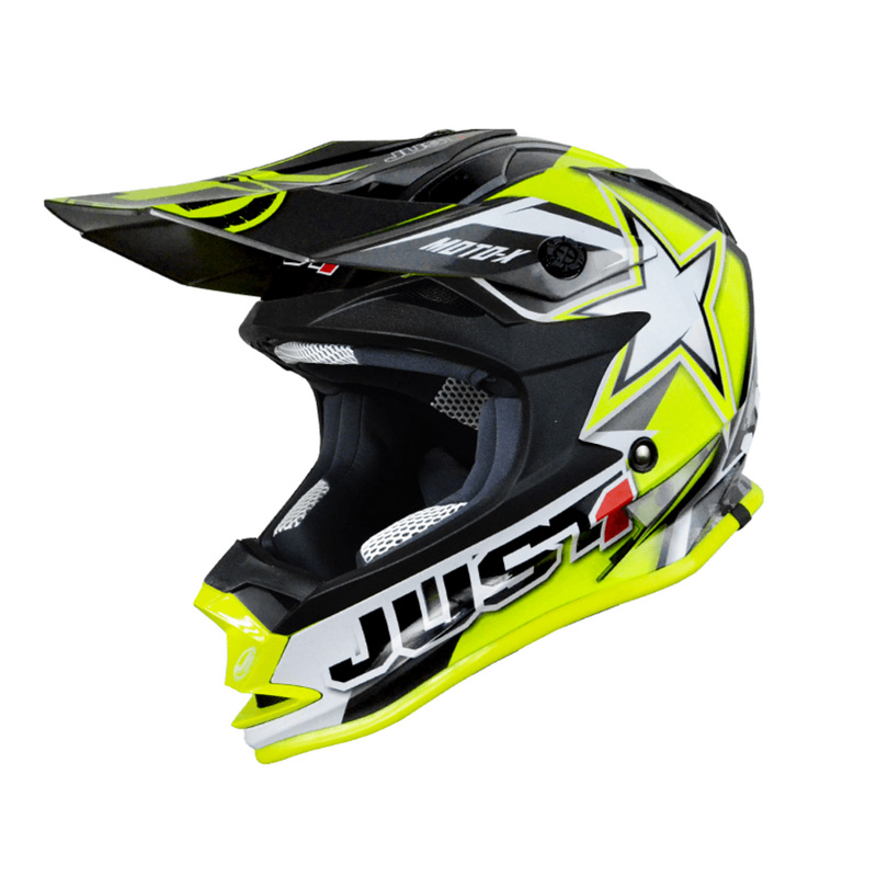 Casco Just1 J32 Moto X amarillo