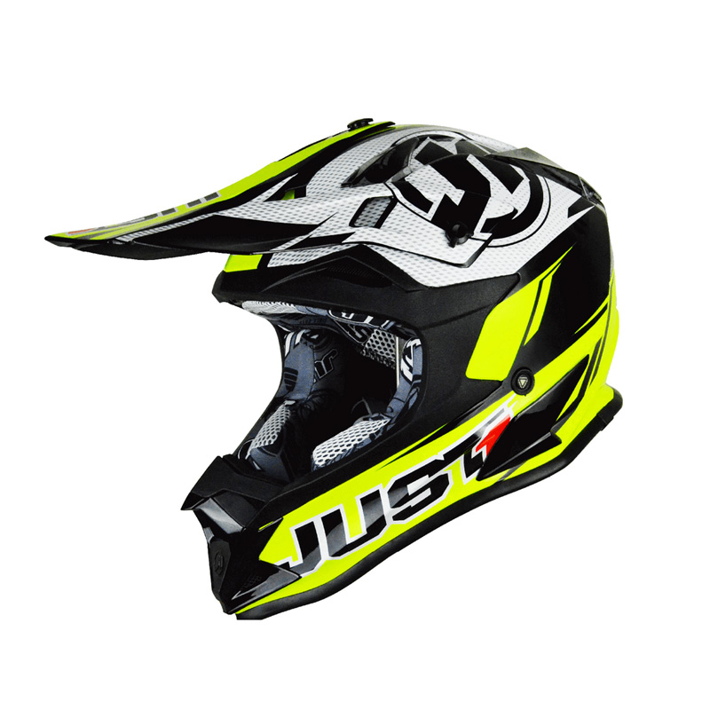 Casco Just1 J32 Rave negro/amarillo fluor