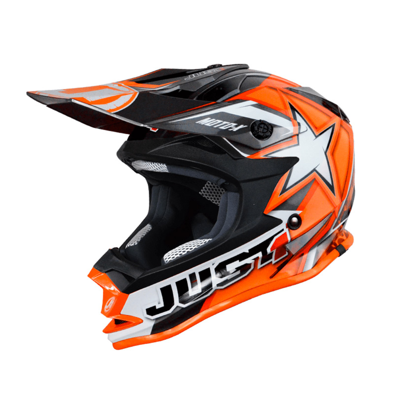 Casco Just1 J32 Moto X naranja