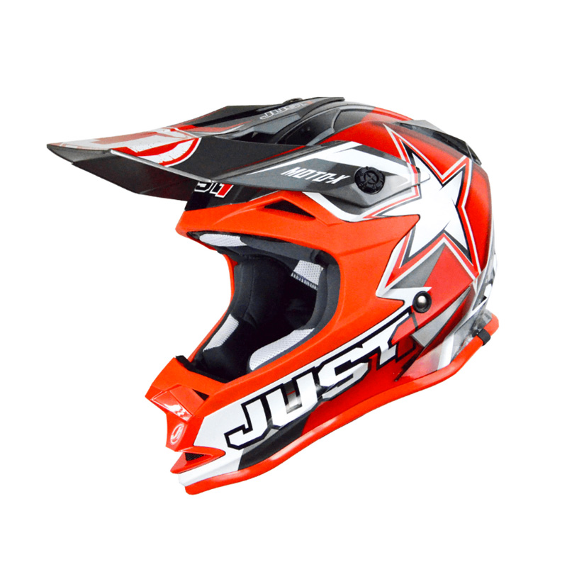 Casco Just1 J32 Moto X rojo