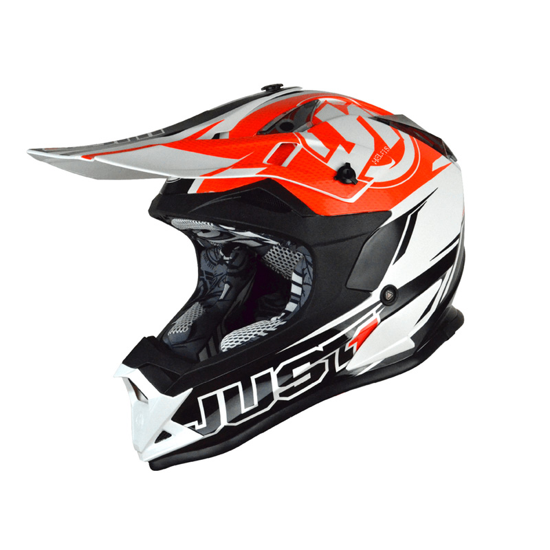 Casco Just1 J32 Rave negro/naranja