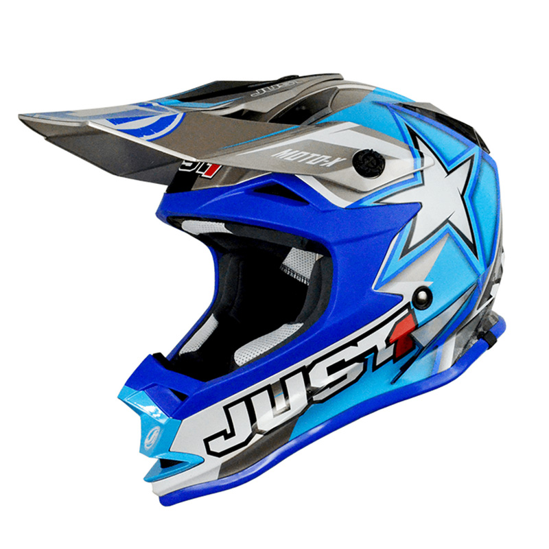 Casco Just1 J32 Moto X azul