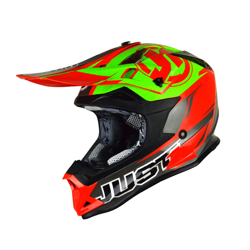 Casco Just1 J32 Rave rojo/lima