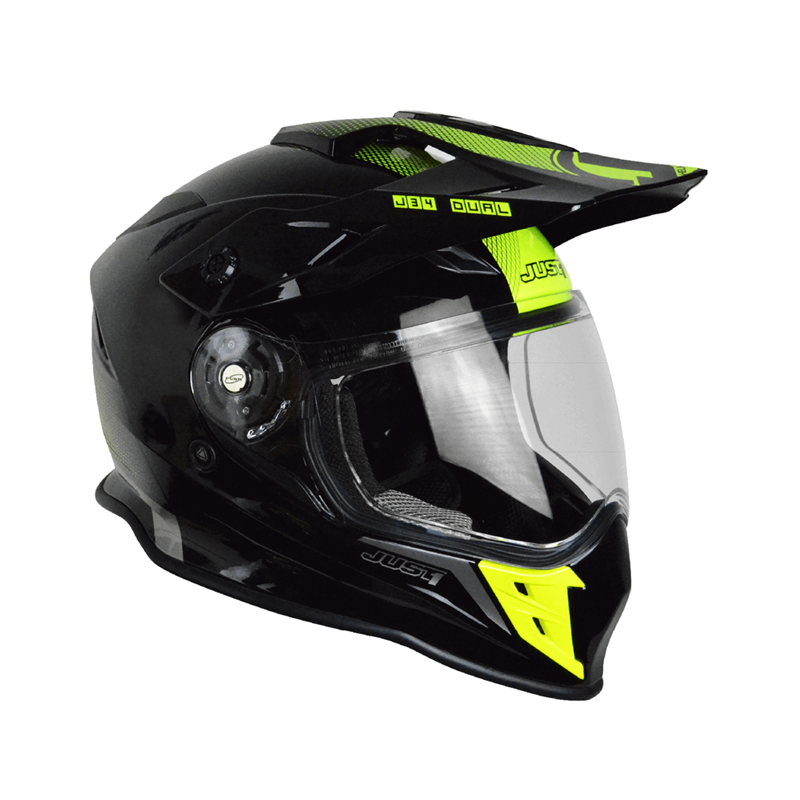 Casco Just1 J34 Adventure amarillo fluor