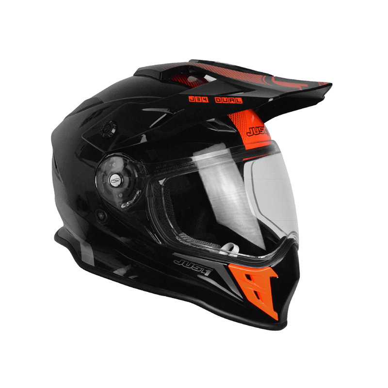Casco Just1 J34 Adventure rojo fluor