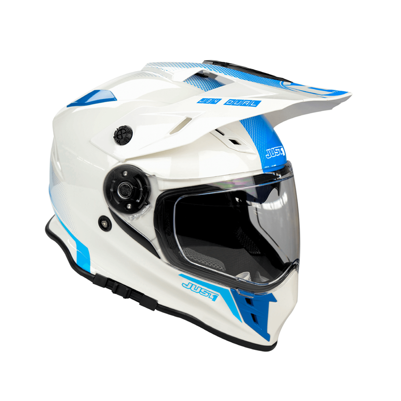 Casco Just1 J34 Adventure azul fluor blanco
