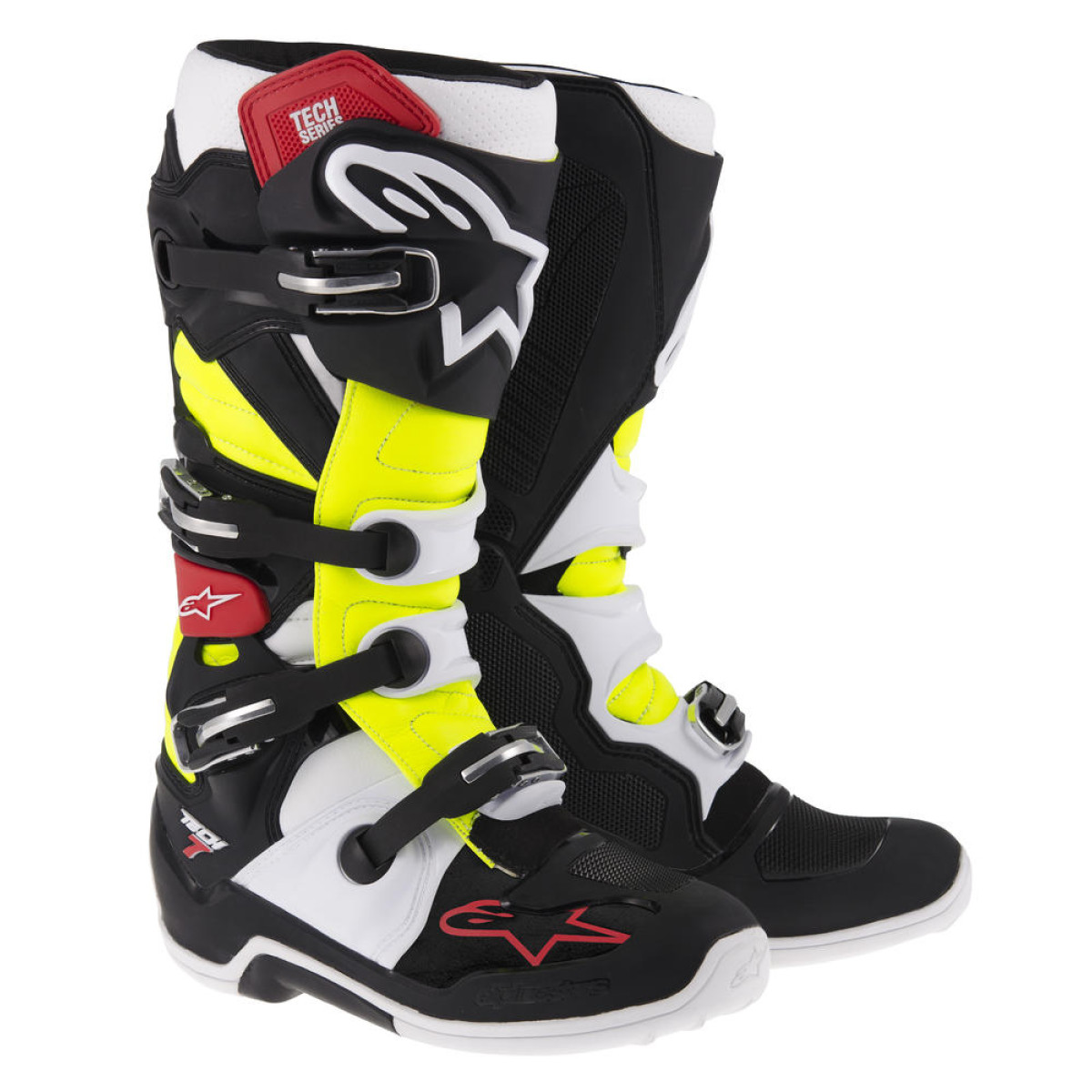 Botas Alpinestar tech 7 black red yellow