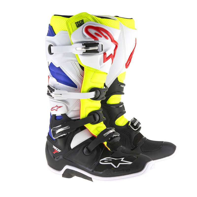 Botas Alpinestar tech 7 white yellow blue